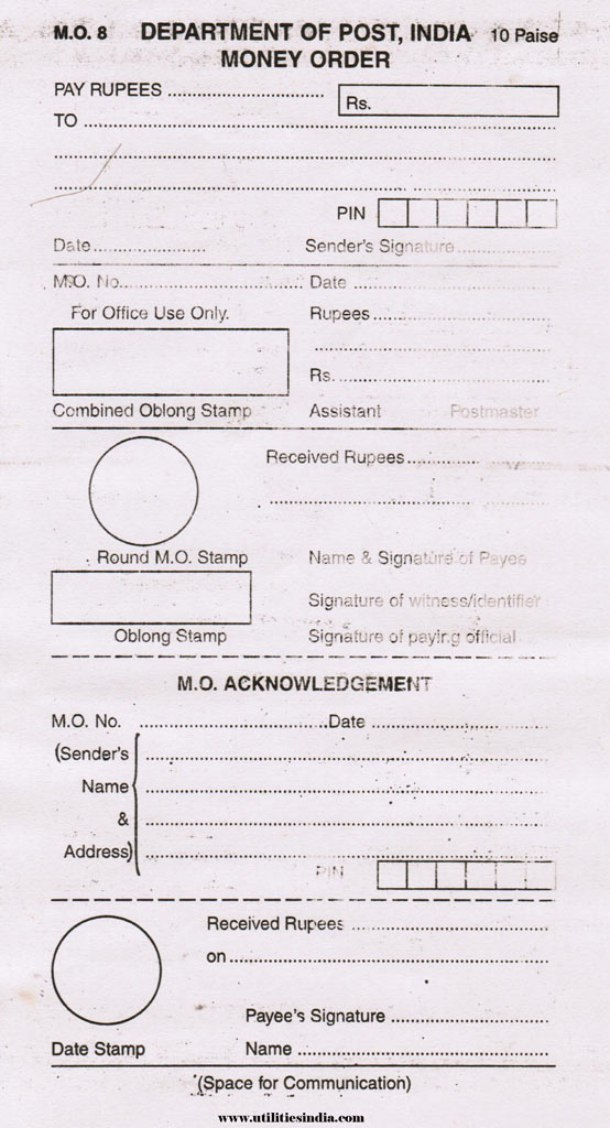 Money Order Form