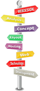 We offer web design services